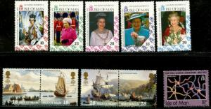 ISLE OF MAN Sc#494-98, 505-17 1992 Four Complete Commem Sets Mint NH