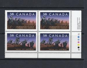 CANADA 1989 CANADIAN INFANTRY REGIMENTS - SCARCE LRPB - SCOTT 1250ii - MNH