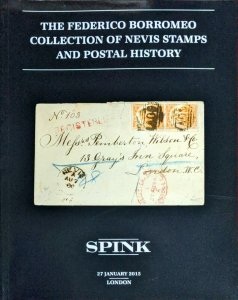 Auction Catalogue The Federico Borromeo NEVIS Stamps and Postal History