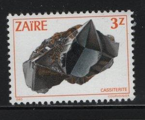 ZAIRE, 1107, MNH, 1983, MINERALS