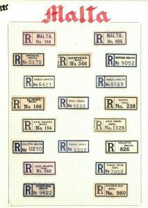 MALTA *Registered Labels* Collection Original Album Page {samwells-covers} AQ385