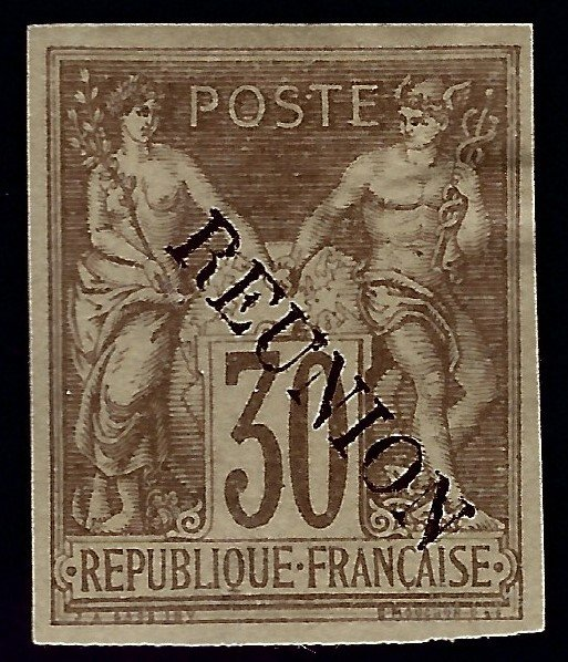 French Reunion Sc #13 Unused F-VF w/crease SCV$52.50...French Colonies are Hot!
