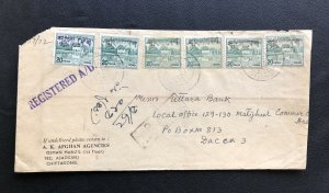 Bangladesh 1972 regd Cover Hs Ovpt Pakistan  from Chittagong