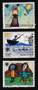 Faroe Is. International Year of Child 3v SG#44-46 SC#45-47