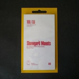 Showgard Stamp Mounts Size 106 / 55 CLEAR Background Pack of 20