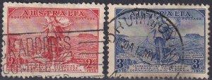 Australia #157-8  F-VF Used  CV $4.35 (Z2796)