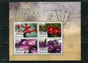 MALDIVES 2007 Sc#2923 FLOWERS SHEET OF 4 STAMPS MNH