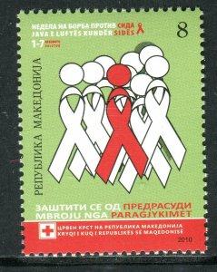 103 - MACEDONIA 2010 - Red Cross - AIDS - MNH Set