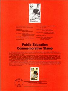 US SP705 Public Education 2159 Souvenir Page FDC