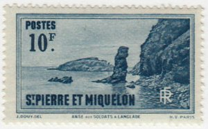 St. Pierre and Miquelon #203 MNH CV$2.00 Soldier's Bay Langlade [76105]