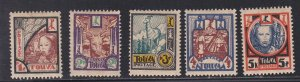 Tannu Tuva # 15-19, Tuvan Woman, & Other Tuvan Scenes, Hinged, 1/3 Cat.