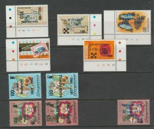 Guyana mnh Gum Provisional Postal 11-21-20 unlisted OP's? 4 scans = 23 stamps