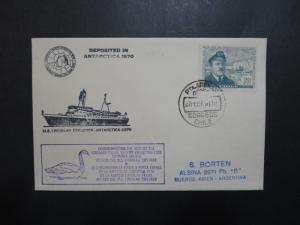 Chile 1970 Antarctica Linblad Passansger Ship Cover to Argentina - Z9014