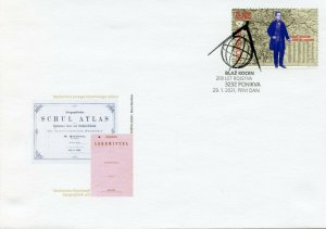 Slovenia People Stamps 2021 FDC Blasius Kozenn Cartography Maps 1v Set
