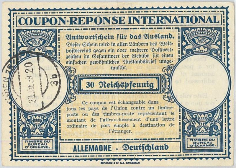 61042 - COUPON RESPONSE INTERNATIONAL London Model: ALEMANIA 1959
