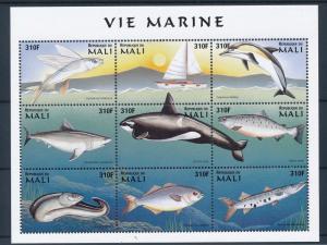 [36657] Mali 1997 Marine life Fish Orca MNH Sheet