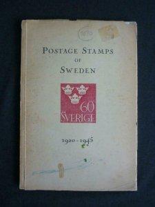 POSTAGE STAMPS OF SWEDEN 1920-1945 by GEORG MENZINSKY