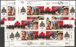 Canada - 1998 RCMP Anniversary Imprint Blocks mint #1737a