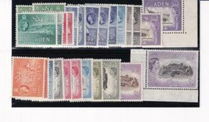 Aden 1953-1959 SC 48-61A Mainly MNH All Color Vars