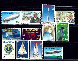 Gambia 1329-40 MNH 1992-93 Anniversaries and Events    (ap1450)