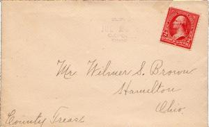 United States Ohio Oxford R.F.D. 2 1902 sl  Type 2F.