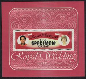 Kiribati Charles and Diana Royal Wedding MS Specimen SG#MS155 SC#379 MI#Block 8