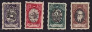 Liechtenstein 1921 Views Eight (8) Stamps in VF/VLH/mint/(*) Scott 62-69
