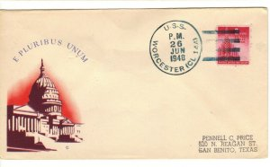 USS WORCESTER CL-144 1948 Cachet Naval Cover E pluribus unum (Out of many,one)