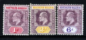 NORTHERN NIGERIA KE VII 1905-07 Definitive Part Set SG 21a to SG 25a MINT