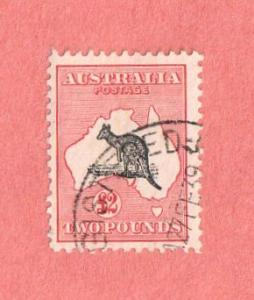 AUS SC #129 Kangaroo and Map (27 FE 39), CV $800.00