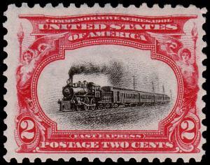 United States Scott 295 (1901) Mint H F-VF, CV $15.00 B