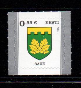 Estonia Sc 769 2014 Saue Coat of Arms stamp mint NH