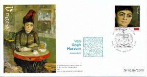 [100462] Samoa 2016 Vincent van Gogh Agostina Segatori Comm. Cover MNH