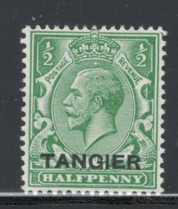 Great Britain Offices Morocco 1927 Overprint 1/2p Scott # 501 MH
