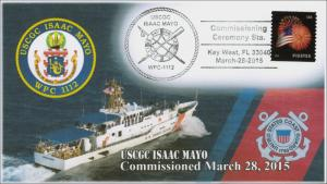 2015, USCGC Isaac Mayo, Commissioned March 28, US Coast Guard, Pictorial, 15-037