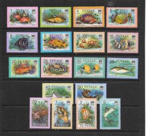 FISH - TUVALU  #96-113   MNH
