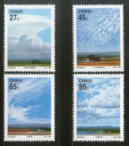 Ciskei 1992 Cloud Formations Environment Ecology Sc 187-90 MNH # 2951