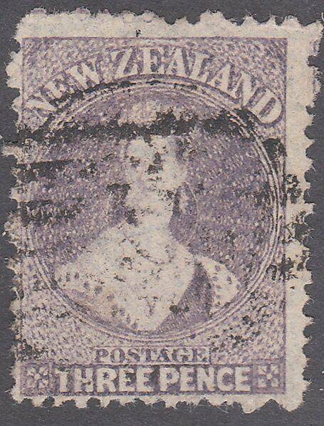 NEW ZEALAND 1864 Chalon 3d perf 12½ SG118 sound used.........................775