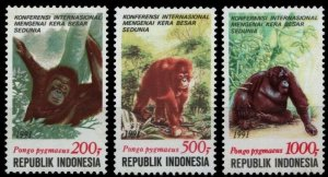 1991 Indonesia 1400-1402 Fauna - Monkeys 6,00 €