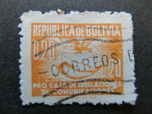 A4P31F96 Bolivia Postal Tax Stamp 1951-52 20c used