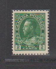 CANADA - KING GEORGE V ADMIRAL ISSUE #107 MLH STAMPS   LOT#24