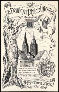 Germany 1930 Altenburg Sachsen Saxony 36th Stamp Day Private GSK Postal Ca 68563