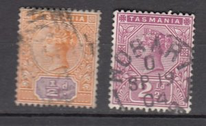 J26187  jlstamps 1892-99 south australia used #76-7 queens