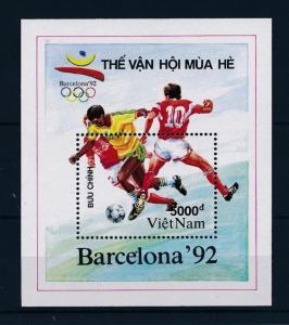 [46362] Vietnam 1991 Olympic games Barcelona Football MNH Sheet