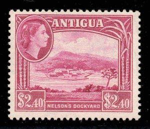 Antigua 1953 QEII $2.40 Nelson's Dockyard SG 133 mint.