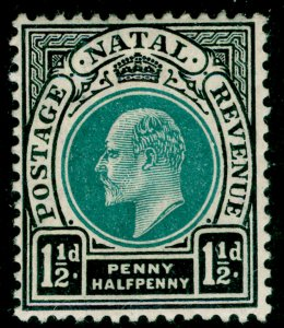 SOUTH AFRICA - Natal SG129, 1½d green & black, M MINT.