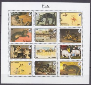 1994 Gambia 1888-1899KL Cats in painting 30,00 €