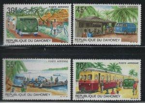 Dahomey 1968 Mail Trucks set Sc# C81-84 mint