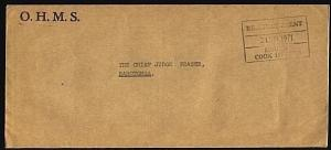 COOK IS 1971 Official cover to Raro : Resident Agent MAUKE frank..........71933W