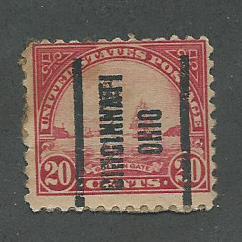 1923 USA Cincinnati, Ohio  Precancel on Scott Catalog Number 567
